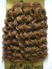wholesale curly light brown weft hair,body wave ,top quality