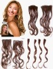 wholesale fashion high quality 4# 18 inch body wave indian hair clip in hair set