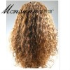 wholesale long curl human hair wig for black women