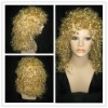 women 100% synthetic golden curl wigs